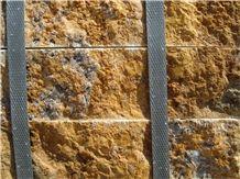 Travertine Split, Yellow Soraya Travertine Tiles