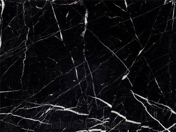 Nero Marquina Polished Marble, Spain Black Marble From