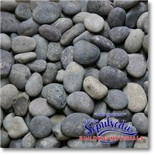 Black Mexican Beach Pebbles, Black Marble Pebbles