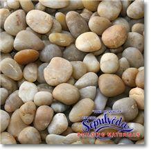 Gold Polished Pebble, Yellow Marble Polished Pebble