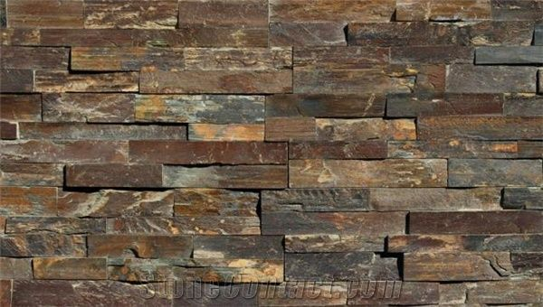 Ming Valley Slate Panel Ledger Brown Slate Cultured Stone