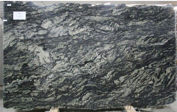 Black Fantasy Granite Slab Brazil Black Granite From