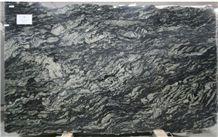 Black Fantasy Granite Slab, Brazil Black Granite