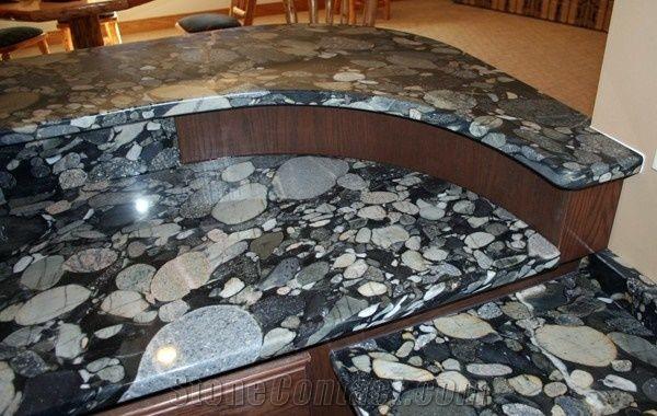 Jurassic Black Granite Countertops Black Mosaic Granite