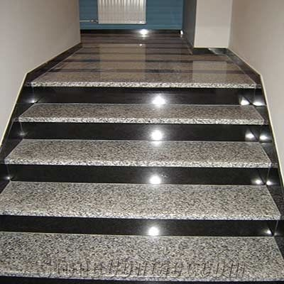 Bianco Sardo Granite Belfast Black Granite Stairs Bianco
