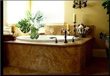 Red Onyx Bath Tup Deck, Tub Panel, Lava Red Onyx Bath Tub