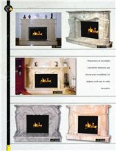 Crema Valencia Yellow Marble Fireplaces