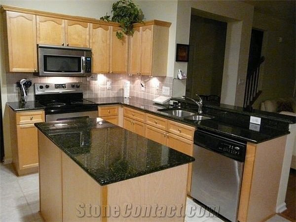 Nero Impala Granite Kitchen Countertop Black Countertops