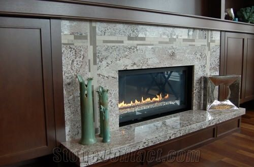 Alaska White Granite Fireplace Surround From Canada