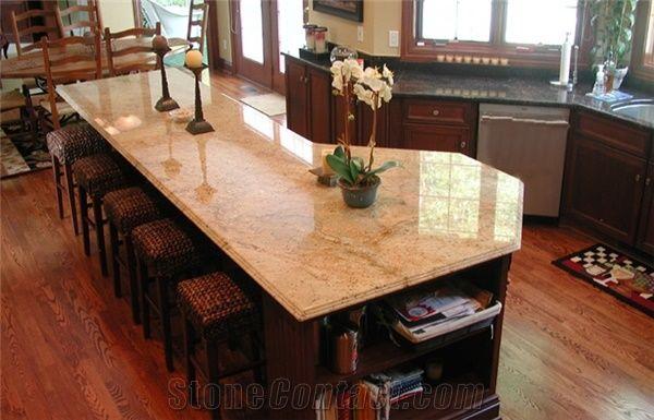 Shivakasi Ivory Granite Kitchen Island Top Shivakasi