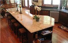 Shivakasi Ivory Granite Kitchen Island Top, Shivakasi Ivory Beige Granite Kitchen Island Top