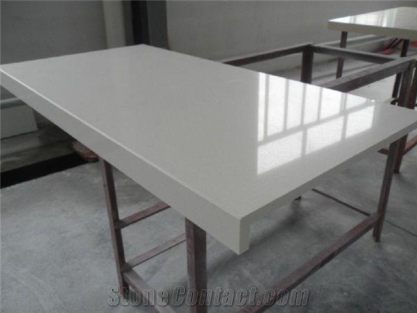Pure White Quartz Countertop From China Stonecontact Com
