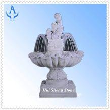 Granite White Garden Fountain, White Granite