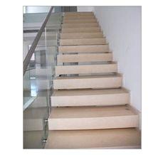 Crema Fiorito Stairs, Crema Fiorito Beige Limestone Stairs