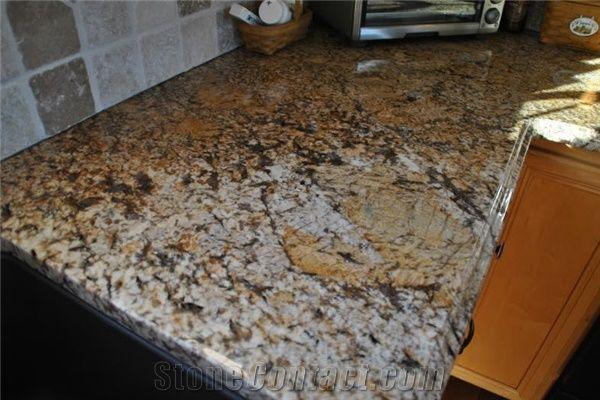 Superieur Golden Persa Granite Countertop, Yellow Granite Countertop