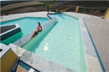 Nerello Bocciardato Fine (Bushammered) Pool Deck,Nerello Trachyte Coping