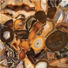 Brown Agate Semiprecious Stone