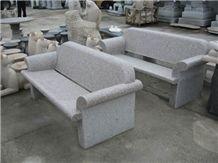 China Grey Granite Bench,Grey Granite Outdoor Benches