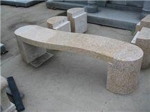 G682 Yellow Granite Bench,China Yellow Granite Garden Bench,Exterior Furniture