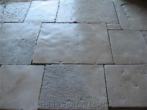 French Antique Limestone Flooring Pattern Bourgogne Grey
