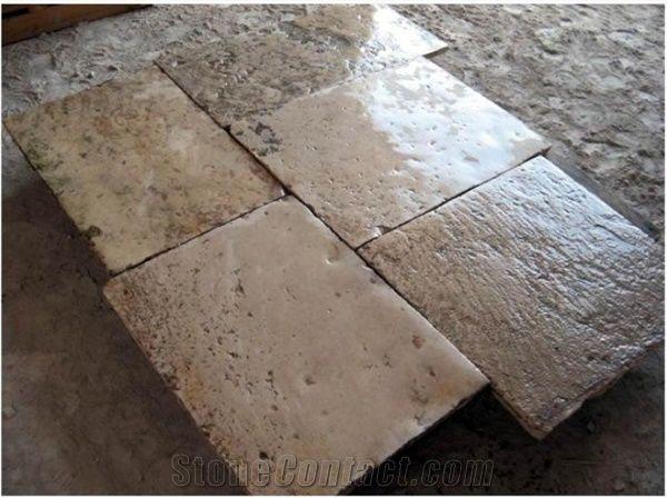 French Limestone Flooring Reclaimed