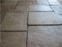 Reclaimed French Limestone Opus Pattern, Rocherons Ramage Limestone Tiles