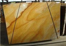Giallo Macaubas Quartzite Slab, Brazil Yellow Quartzite
