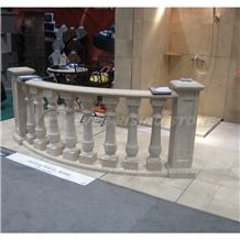 China Beige Marble Balusters, Balustrade