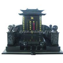 China Shanxi Black Granite Monument- Asian Tombsto