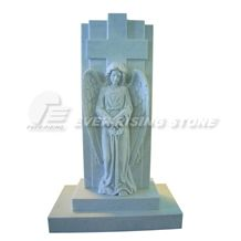 China White Marble Memorials Angel Carving
