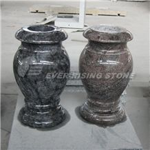 Granite and Marble Turned Vase