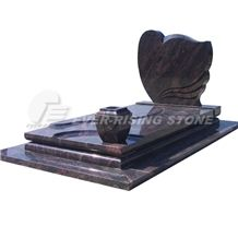 Himalayan Blue Granite Tombstone,Monument