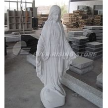 Jesus Statue, Carvings Of Our Lady, Suizhong Sesame White Granite Statue