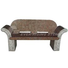 Maple Red Granite Memorial Bench