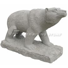 Polar Bear Carving, Granite and Marble Statues