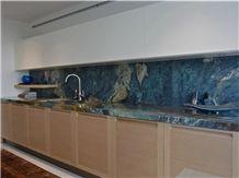 Blue Louise Kitchen Countertop, Louise Blue Quartzite Kitchen Countertops