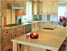 Giallo Macaubas Kitchen Countertop, Yellow Quartzite