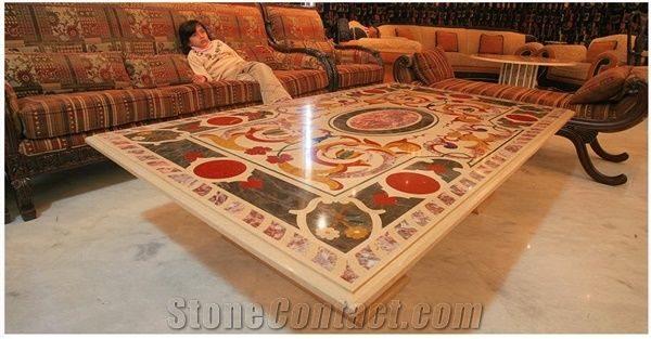 Beautiful Marble Inlay Table Top, Casablanca Marble Table Tops from Pakistan  ZA38