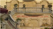 Balustrade Railings, Grey Sandstone Balustrade