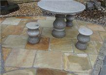 Mint Sandstone Paving, Fossil Mint Sandstone Tiles