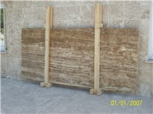 Medium Travertine, Turkey Brown Travertine Slabs & Tiles
