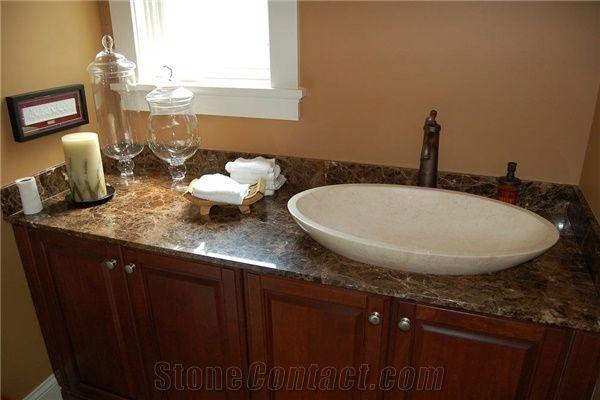 Emperador Dark Gold Marble Bathroom Top