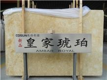 Amber Royal Marble Slabs, Spain Beige Marble