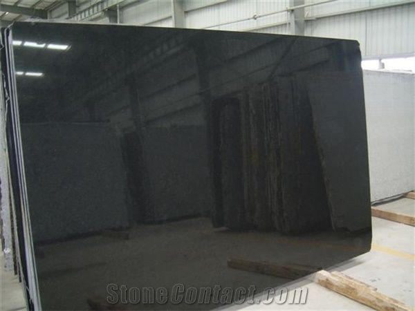 China Absolute Black Granite Slabs