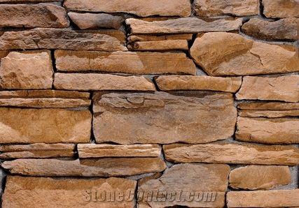 Yellow Stacked Stone Veneer Rock