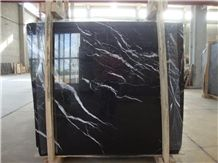 Taurus Black Marble Slabs, Turkey Black Marble Tiles, Polished Marble Floor Covering Tiles, Walling Tiles