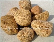 Yellow Granite Pebble Stone