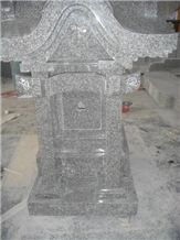 Japanese Style Tombstone 08, Grey Granite Japanese Style Tombstone