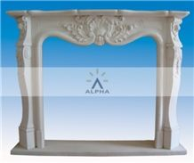 Dynasty White Marble Fireplace Mantel