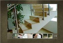 Lotus Beige, Ruschita Marble Stairs, Ruschita Pink Marble Stairs